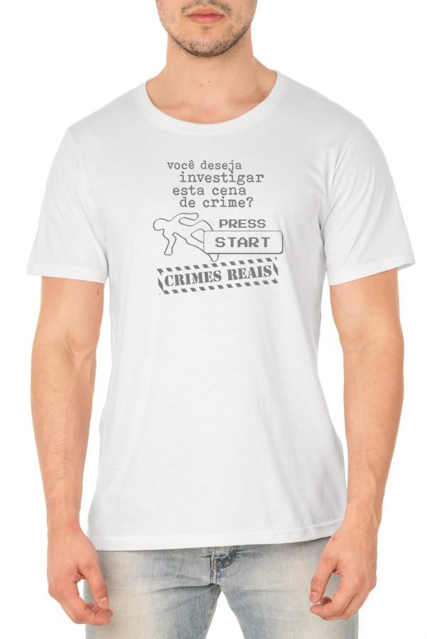 Camiseta Investigação (monocromática) - Crimes Reais