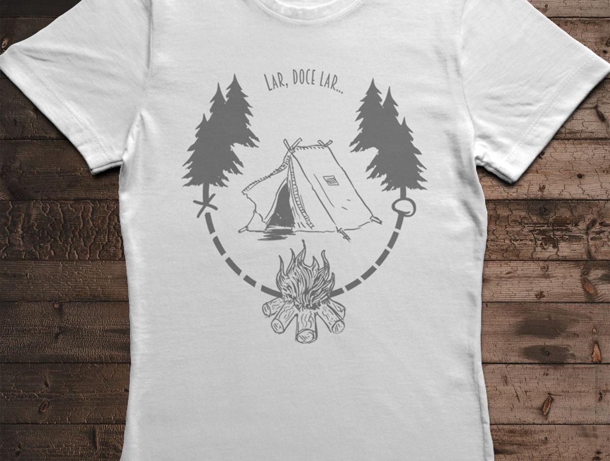 Camiseta Lar, Doce Lar - Canal Outdoors - Branca / Feminina / Babylook