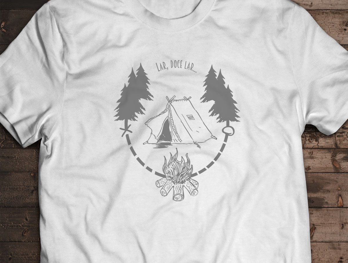 Camiseta Lar, Doce Lar - Canal Outdoors - Branca / Unissex