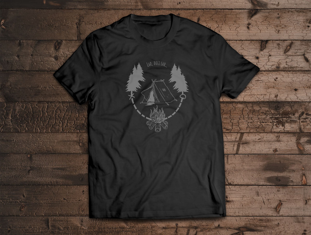 Camiseta Lar, Doce Lar - Canal Outdoors - Preta / Unissex