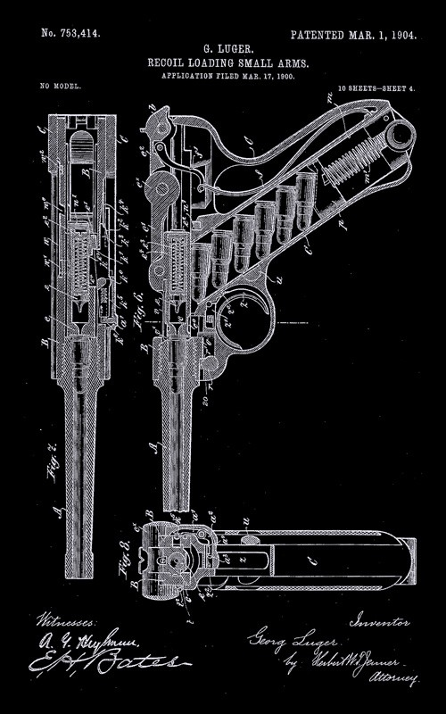Camiseta Luger - Armas Históricas - 9mm Podcast - Masculino / Unissex