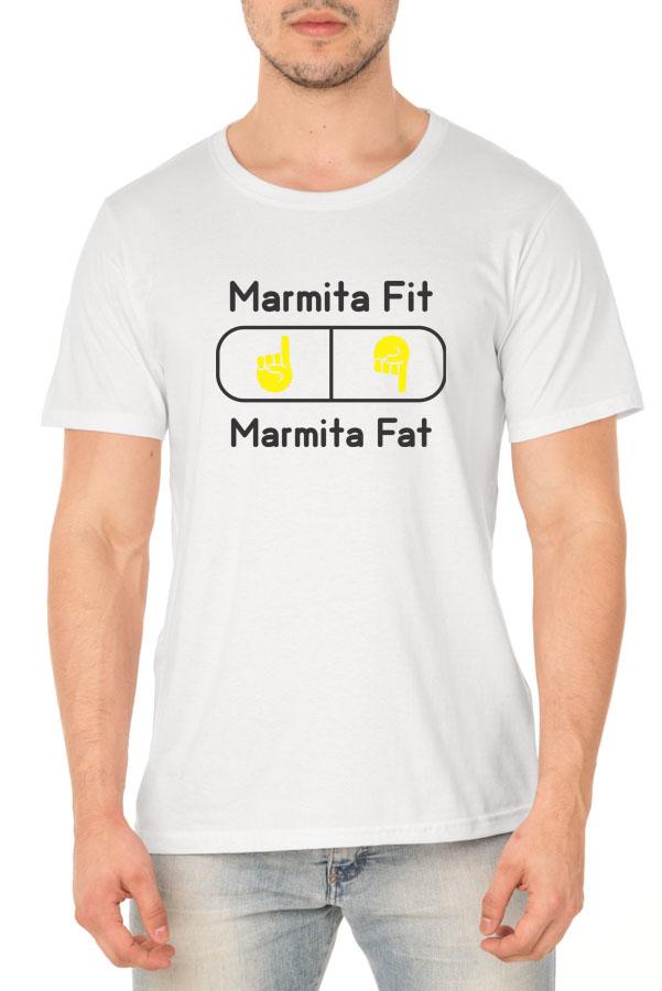 Camiseta Marmita Fit ou Marmita Fat? - Coleção Chef Danilo Galhardo - Unissex