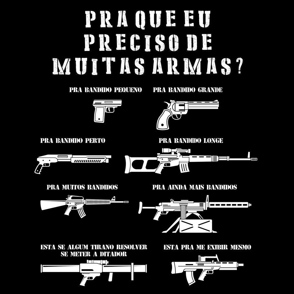 Camiseta Muitas Armas - Babylook