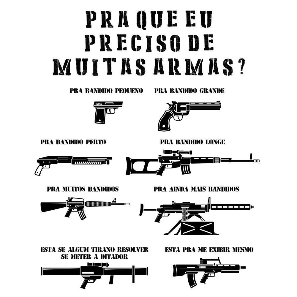 Camiseta Muitas Armas  - Unissex