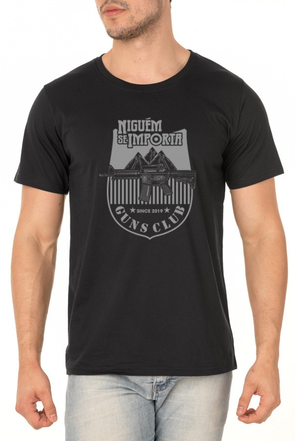 Camiseta NSI Guns Club - Ninguém se Importa Podcast - Unissex