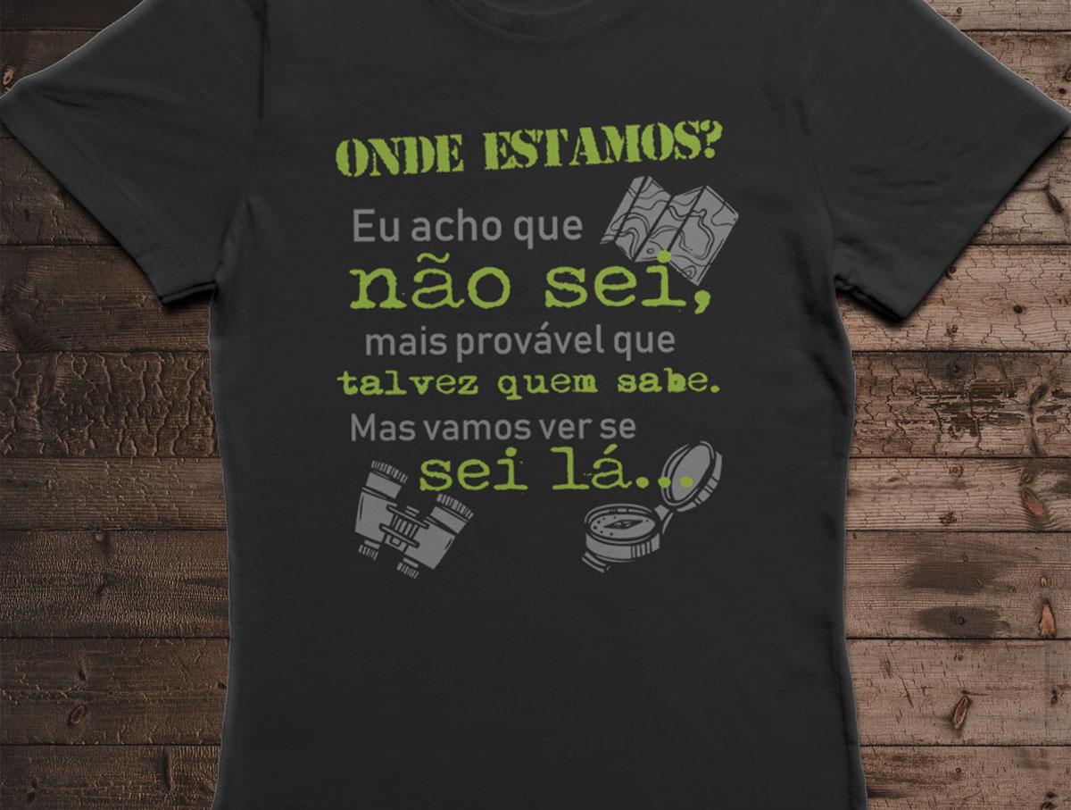 Camiseta Onde Estamos? - Canal Outdoors - Preta / Feminina / Babylook