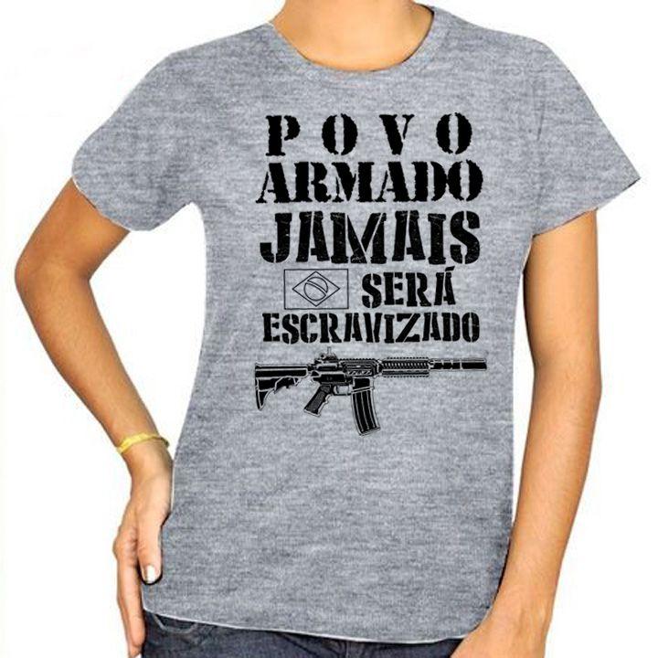 Camiseta Povo Armado! - Babylook