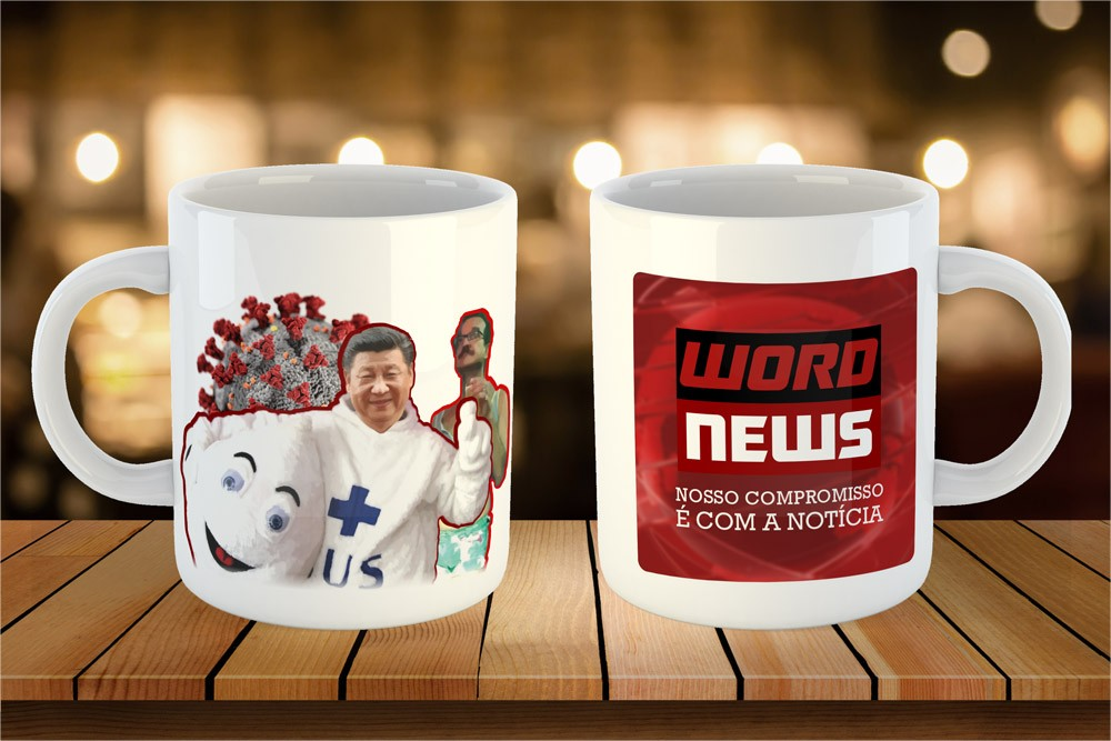 Caneca ChinaVirus - Word News