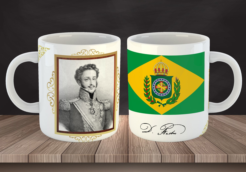 Caneca Dom Pedro I, O Libertador - ConservaTee