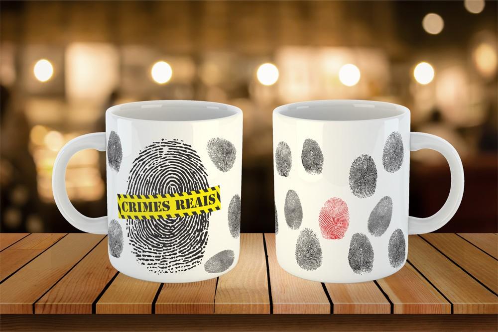 Caneca Fingerprints - Crimes Reais
