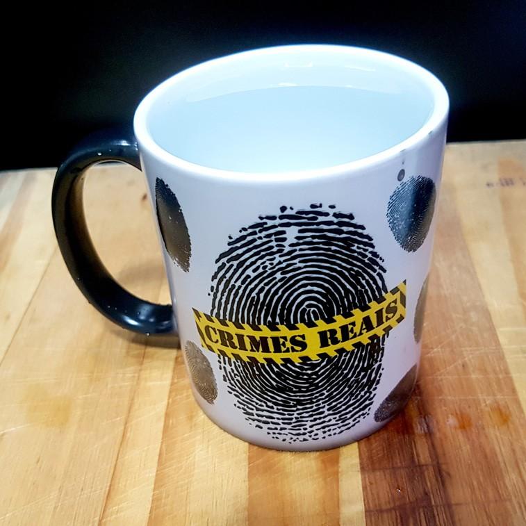 Caneca MÁGICA Fingerprints - Crimes Reais