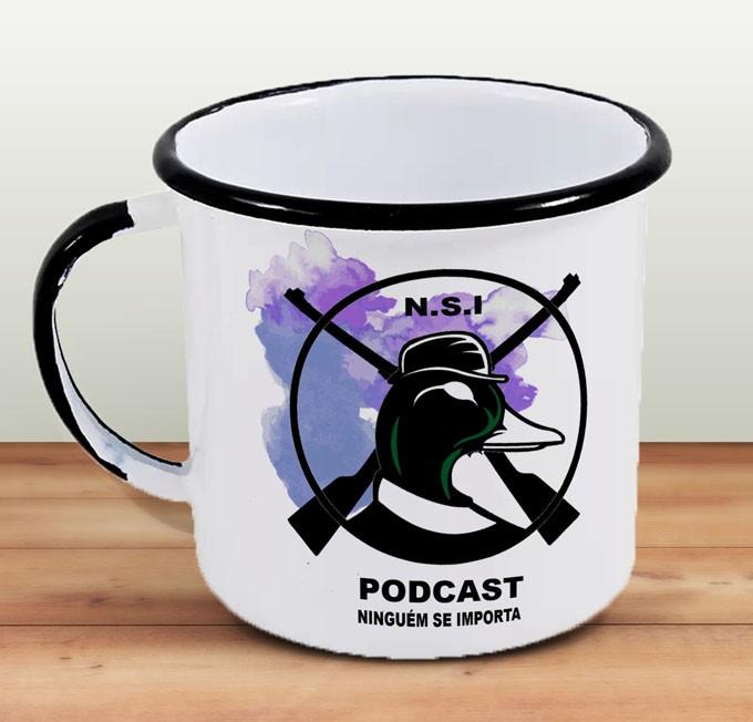 Caneca NSI - Ninguém se Importa Podcast  - Aço Esmaltado
