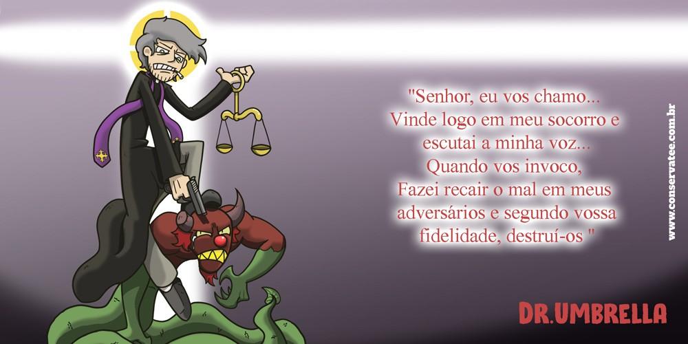 Caneca Ódio Perfeito - Padre Miguel - Dr. Umbrella - ConservaTee