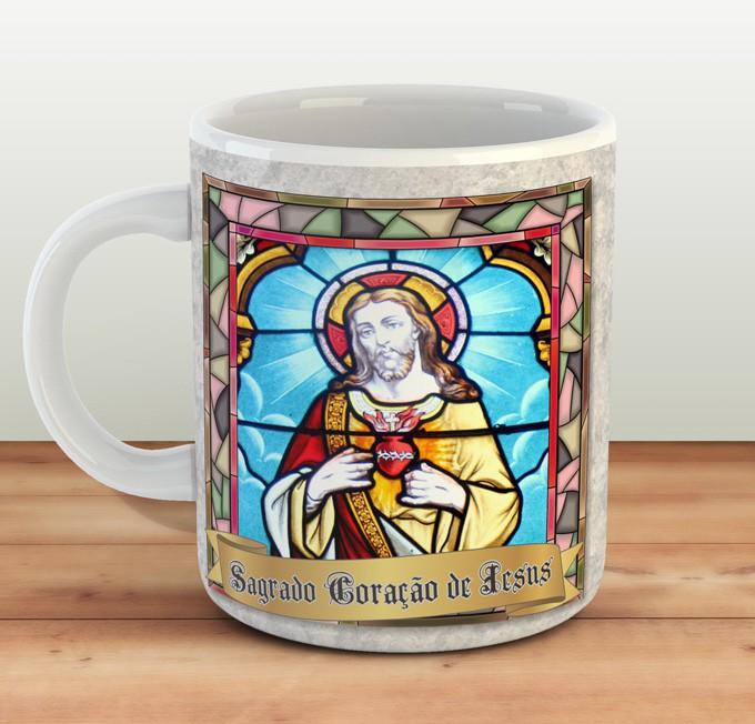 Caneca Sagrado Coração de Jesus - Estampei