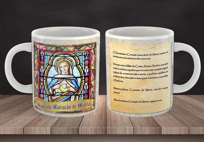 Caneca Sagrado Coração de Maria - Estampei
