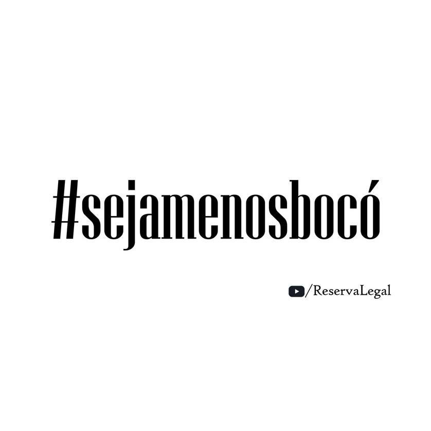Caneca #SejaMenosBocó - Reserva Legal - Lettering grande