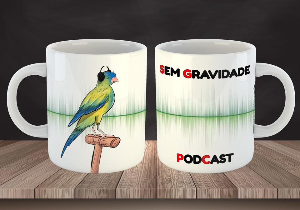 Caneca Sem Gravidade Podcast - ConservaTee