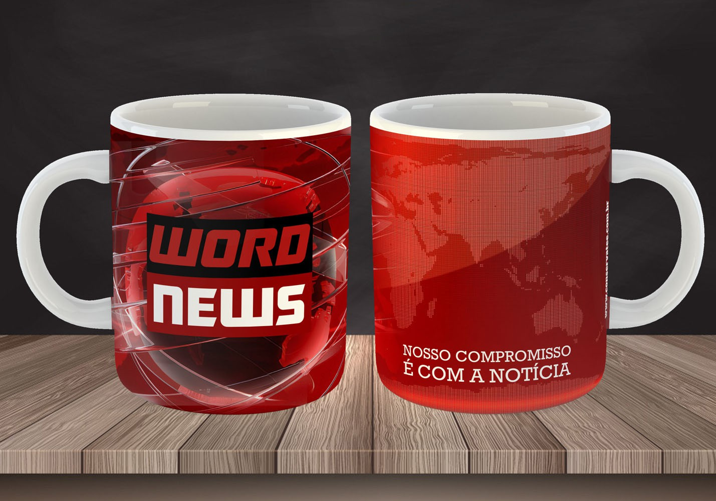 Caneca Word News - Estampei