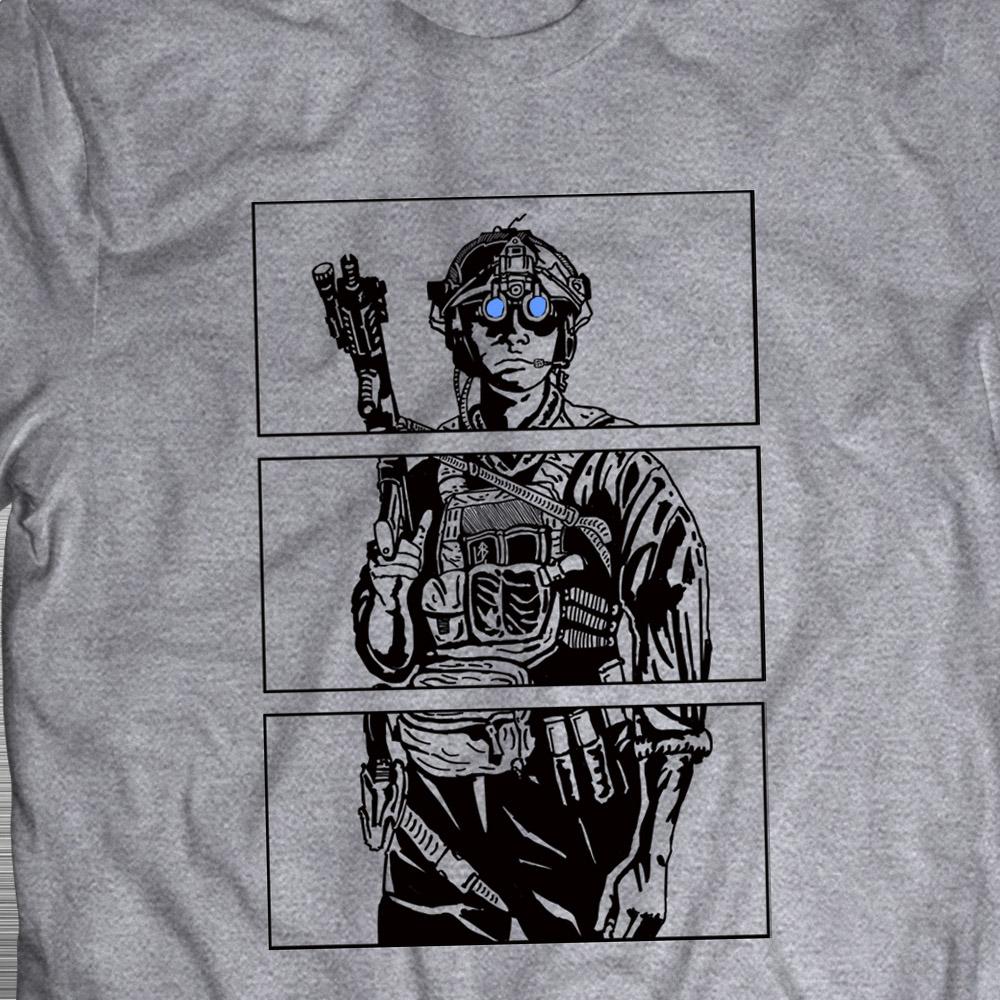 PRÉ VENDA - Camiseta Blue Eyes - Preto + Cinza - Incursion Group