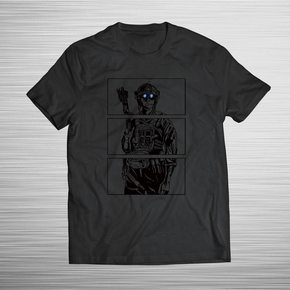 PRÉ VENDA - Camiseta Blue Eyes - Preto + Preto - Incursion Group