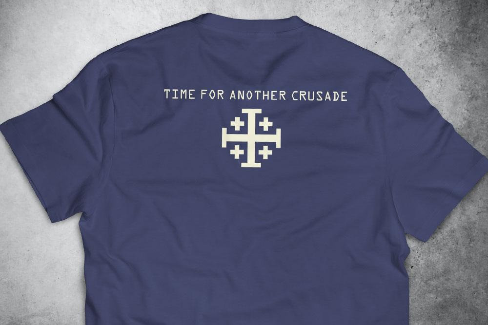 PRÉ-VENDA - Camiseta Crusade AZUL - Depilações Masc. Spec Ops ft. Sketchnoodles