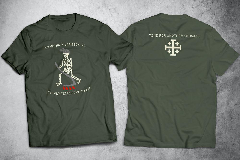 PRÉ-VENDA - Camiseta Crusade VERDE - Depilações Masc. Spec Ops ft. Sketchnoodles