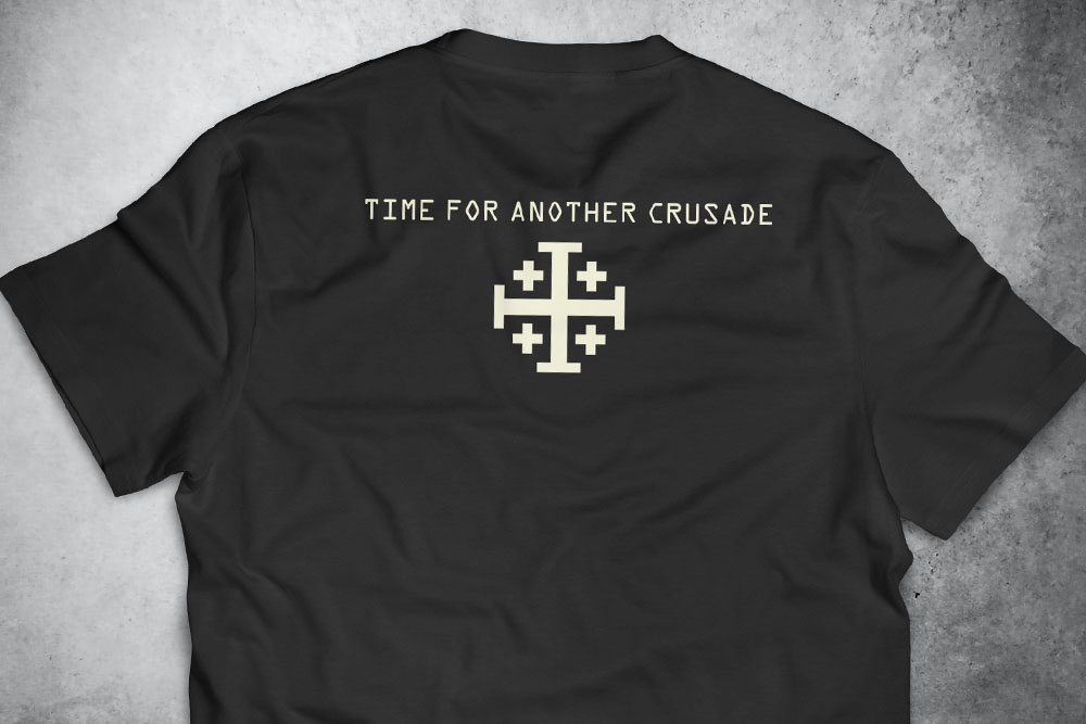 PRÉ-VENDA - Camiseta Crusade PRETA - Depilações Masc. Spec Ops ft. Sketchnoodles