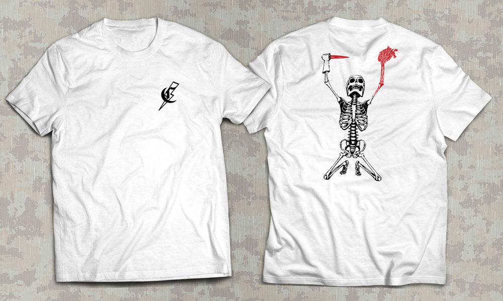 PRÉ VENDA - Camiseta Dark Heart - Commandos Brasil - Branca