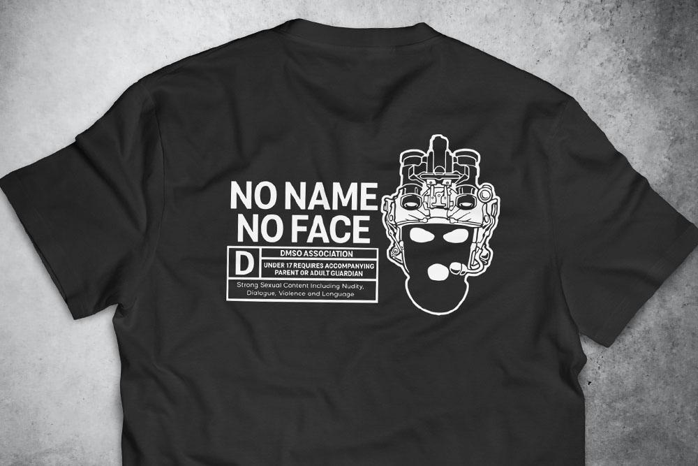 PRÉ-VENDA - Camiseta No Name No Face PRETA - Depilações Masc. Spec Ops