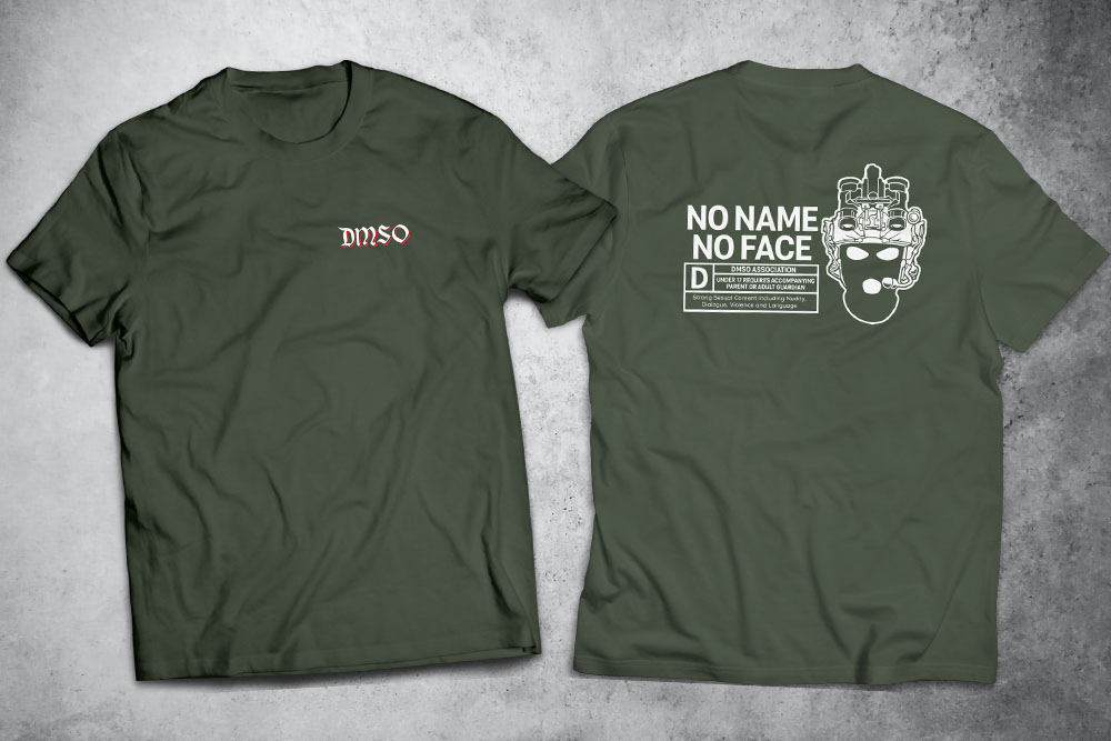 PRÉ-VENDA - Camiseta No Name No Face VERDE - Depilações Masc. Spec Ops