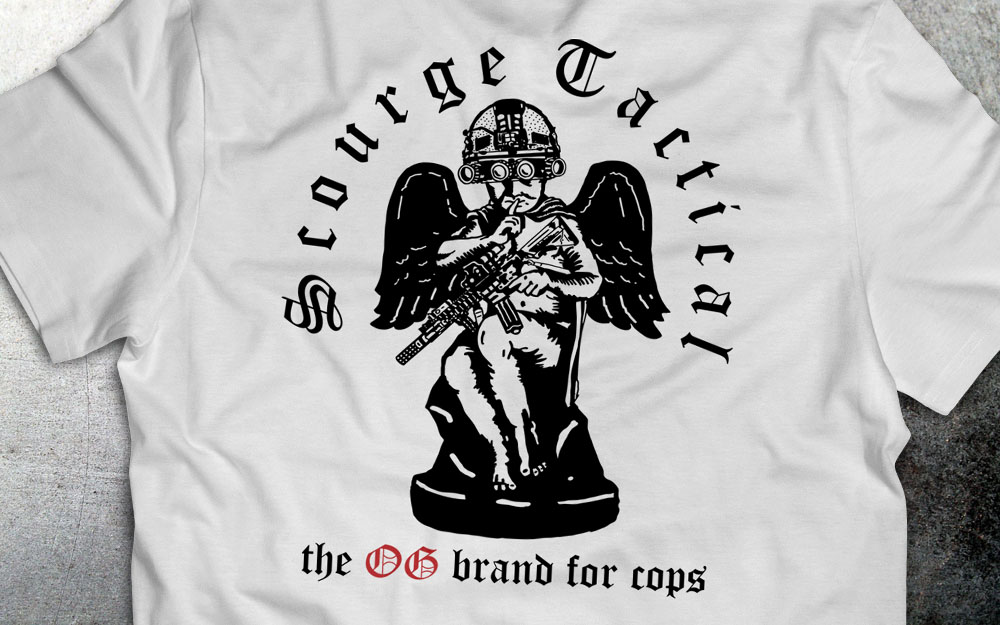 PRÉ VENDA - Camiseta Scourge Tactical - Branca