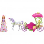 Barbie Dreamtopia Carruagem Com Princesa Barbie DYX31 Mattel