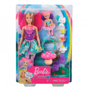 Barbie Dreamtopia Dia De Pets Festa Do Cha GJK49 Mattel