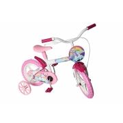 Bicicleta Aro 12 Magic Rain Bow Branca E Rosa Styll Baby