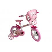 Bicicleta Aro 12 Princesinhas Bike Branca E Rosa Styll Baby