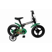 Bicicleta Aro 12 Radical Kid Preta E Verde Styll Baby