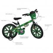 Bicicleta Aro 16 Hulk 2422 Bandeirante