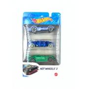 Blister Hot Wheels Com 3 Carrinhos K5904 Mattel
