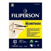 Bloco A4 Técnico Sem Margem Milimetrado 50 Folhas Filiperson
