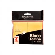 Bloco Auto Adesivo Jocar Office Amarelo 38x50mm Leonora