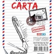 Bloco Para Carta Pautado 50 Folhas São Domingos