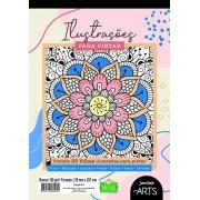 Bloco Para Educação Artística Ilustração 28 Folhas Jandaia