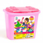 Blocos De Montar Baby Land Block Box 90 Blocos Menina 8011 Cardoso