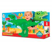 Blocos De Montar Baby Land Dino Jurassic Com 30 Blocos 8001 Cardoso