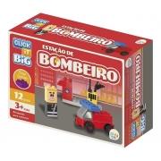 Blocos De Montar Big Bombeiro 12 Peças CLB-BO01 Play Cis