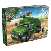 Blocos De Montar Forca Tatica Jeep Hammer 8842 Banbao