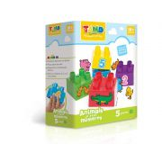 Blocos De Montar Tand Baby Animais E Números 5 Pecas Toyster