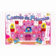 Blocos Em Madeira Castelo Da Princesa Brincadeira De Criança