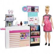 Boneca Barbie Cafeteria Com Acessórios GMW03 Mattel