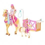 Boneca Barbie Com Cavalo Penteados Divertidos GXV77 Mattel